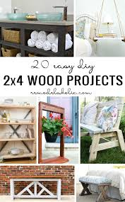 wood projects for home. 20 easy diy 2×4 wood projects for home