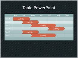 Make A Table Chart Free Create A Basic Timeline In Powerpoint Using Shapes And Tables