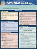 Mla Guidelines 2020 Product Details For Apa Mla Guidelines By Barcharts Inc