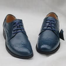 vintage flats genuine leather fashion single shoes women s navy blue oxfords shoes brockden women s shoes