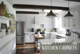 Simple Painting Cherry Kitchen Cabinets White Although I Have Done A With Design