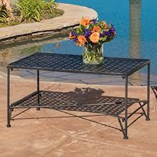 black iron outdoor furniture. kent outdoor black iron coffee table furniture