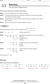 solve for the first variable step check the solution in the other original equation