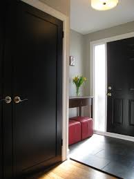 inside front door colors. This Hallway Is Stunning With Both The Front Door And Doors Painted Black. Inside Colors N