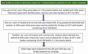 Flow Chart For Soil Resilience Study In The Laboratory Based