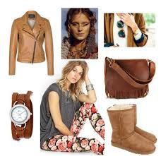 how about boho update which can be seen in fl skinnies fringed brown leather bag loose fit top light brown leather jacket and strappy watches