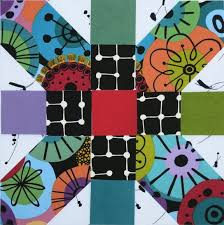 Pin by Patti Porter on Colorful and Scrappy | Cross quilt, Colorful quilts,  Plus quilt