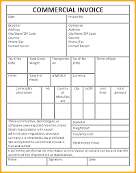 Sample Commercial Invoice Template Commercial Invoice Format
