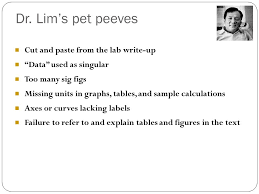seminar ppt  dr lim s pet peeves cut and paste from the lab write up