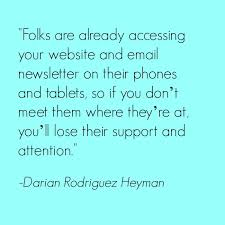 email newsletter strategy mobile marketing strategy for nonprofits q a with darian