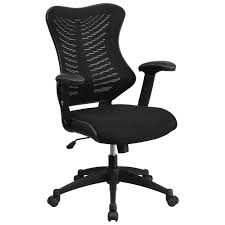 ERGONOMIC HOME High Back Black Designer Mesh Executive Swivel Office Chair  with Mesh Padded Seat EH