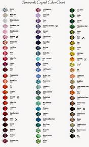 Swarovski Crystal Juzu Swarovski Color Chart