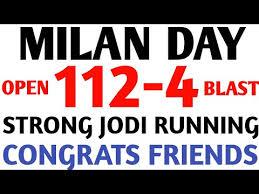 Milan Day 12 09 2019 Open To Close Jodi Single Milan Day