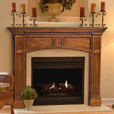 56'' Vance Distressed Medium Oak Finished Fireplace Surround by ...