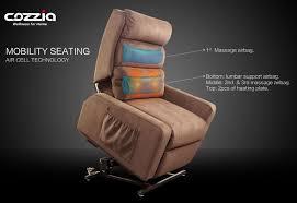 cozzia mc 520 lay flat infinite position lift chair recliner