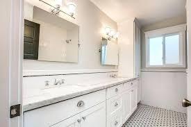 carrara marble vanity top 49 x 19 vintage bathroom white subway tiles black pencil carrara marble vanity top