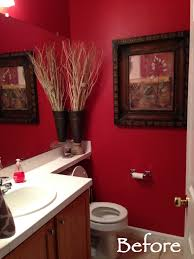 Dark Red Bathroom Guest Bath Overhaul Its All In The Paint Marlowe Lane