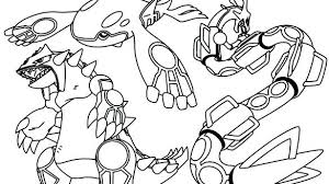 Pokemon Coloring Pages Legendary Mew Rayquaza Printables Free Le
