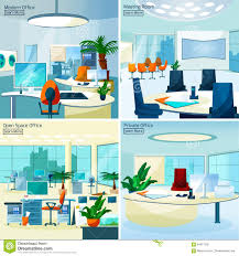 office design concept. modern office interiors 2x2 design concept stock photography
