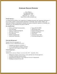 Sample Resumes For College Graduates Resume Samples