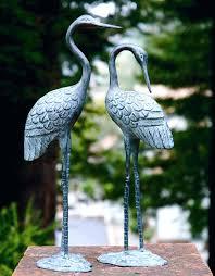 metal cranes for garden love crane pair sculpture indoor outdoor garden bird heron statue metal crane metal cranes for garden