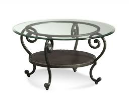 round gl top mixed antique black wrought iron coffee table frame