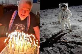 Hier ist die Erinnerung an den Astronauten und ersten Fotografen auf dem  Mond - Nach Welt