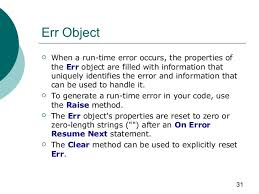 ... Vbscript On Error Resume Next Err Number by Vbscript ...