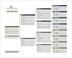 Blank Family Tree Charts Download Family Tree Chart Template 9 Free Word Excel Pdf Format