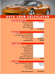 Vehicle Amortization Chart Auto Loan Calculator Template For Numbers Free Iwork Templates