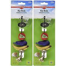 Amazon.com : Kaytee Ka-Bob Treat Dispensing Small Animal Toy (2 ...