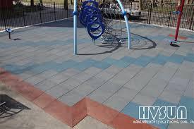 interlock playground rubber tile hvsun 311