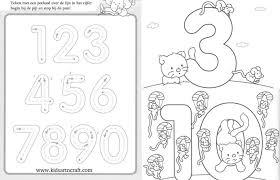 1-10 Writing numbers worksheets for preschool and kindergarten ...