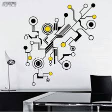 Small Picture Wall decals TECH SHAPES Abstract shapes vinyl art stickers