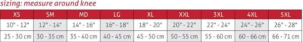Knee Sleeve Size Chart Comfort Closed Patella Knee Sleeve