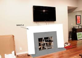 Mantle Without Fireplace Articles With Tv Above Fireplace Without Mantle Tag Fireplace