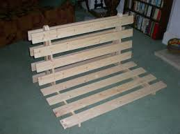 picture of how to make a fold out sofa futon bed frame