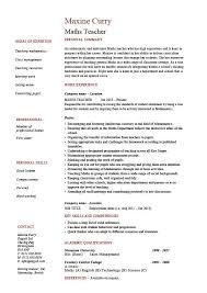 Cv Tmplates Maths Teacher Cv Template Maths Teacher Job Mathematics Key Stage