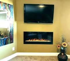 s 50 inch electric fireplace touchstone onyx wall mounted black