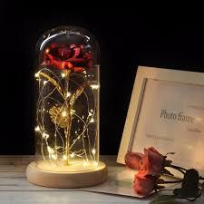 Enchanted Led Rose Light Enchanted Led Rose Red