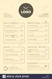 Restaurant Menus Layout Modern Dark Minimalistic Restaurant Menu Template With Two