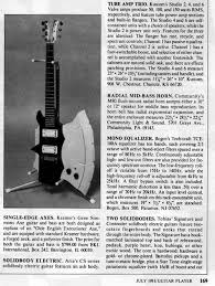 kramer aluminum neck guitars this probably means that peter laplaca retained some sort of ownership of the axe guitar and bass from kramer after his departure notice no gene signature