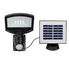 Solar Powered Flood Lights Lowes Shop Utilitech Pro 180 Degree 1 Head Black Solar Powered Led
