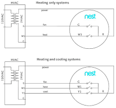 heating and cooling thermostat wiring diagram together with heat