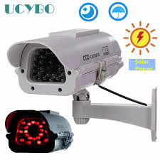Solar Powered Red Led Lights Us 18 93 21 Off New Solar Powered Battery Outdoor Indoor Cctv Security Fake Dummy Camera Red Ir Leds Lights Free Shipping In Surveillance Cameras