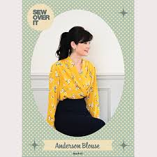 Blouse Sewing Pattern Stunning Sew Over It Anderson Blouse PDF Sewing Pattern Sew Over It