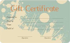 gift certificates format splash art gift certificate template get certificate templates