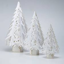 Paper Christmas Tree Ornaments Top 40 White Christmas Decorations Ideas Christmas Celebrations