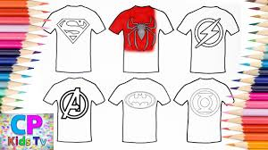 Ruffled ribbon christmas tree shirt tutorial. Superman Spiderman Flash T Shirt Coloring Pages How To Color Superheroes Superheroes Hideaway