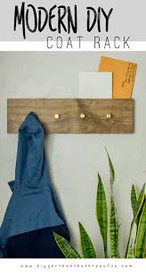 diy modern wall mount coat rack with